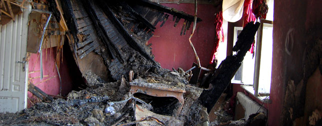 Room in home destroyed by fire