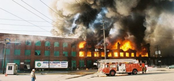 Warehouse fire picture